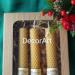 Zestaw świeczek z wosku pszczelego, wykonany własnoręcznie. wys. 14x2,5cm