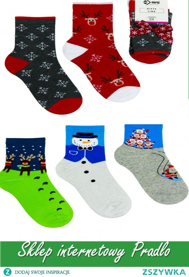 #Kolorowe skarpetki z motywem świątecznym doskonałe na prezent zapraszamy do Pradlo sklepu internetowego