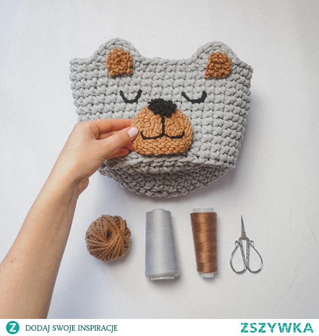 DIY kosz na zabawki dla dziecka #Punchneedle #diy #szydełko #kosz