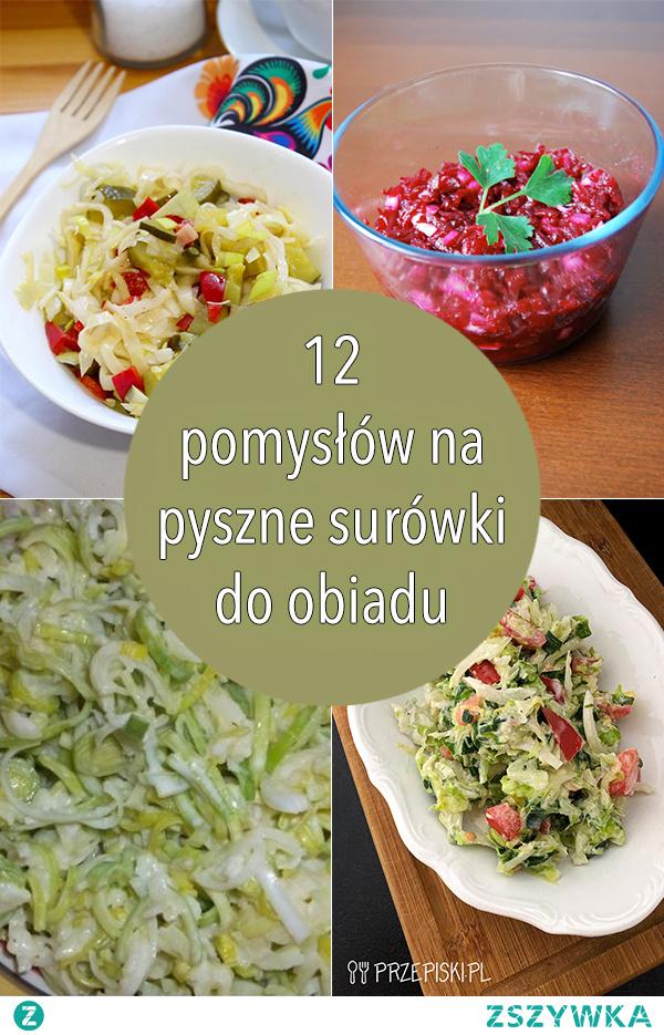 12 pomysłów na pyszne surówki do obiadu