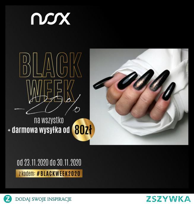 Rozpoczynamy Black Week w NOX, podczas którego z kodem #BlackWeek2020 kupicie wszystkie nasze produkty 20% taniej, a każde zamówienie powyżej 80 zł wyślemy za darmo! Zachęcamy do skorzystania!