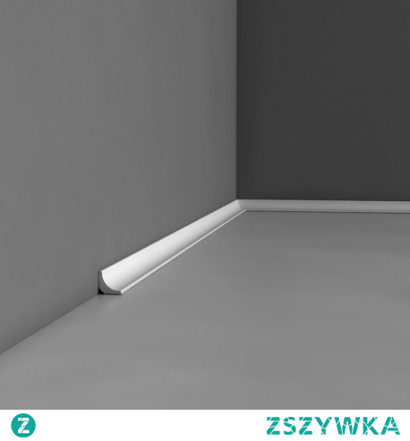 Mała listwa przypodłogowa CX133 Orac Decor. Profil cokoła pozwala na zastosowanie we wszystkich typach aranżacji wnętrza.  Wykonana z wytrzymałego Duropolymeru!. Gładki i wklęsły profil idealnie pasuje jako wykończenie pomieszczenia. Ciekawy efekt można również uzyskać układając ją na ścianie jako obramowanie. Uniwersalna sztukateria może zostać użyta jako listwa podłogowa i sufitowa.