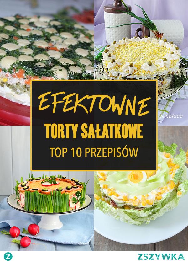 Efektowne torty sałatkowe: TOP 10 przepisów
