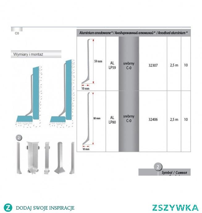 Aluminiowa listwa przypodłogowa LP80 Creativa to niezwykle proste wzornictwo, idealnie pasujące do nowoczesnych, loftowych wnętrz Sama listwa podłogowa jest długa, więc będzie mało widocznych łączeń Dzięki temu, że listwa podłogowa aluminiowa jest wysoka na 8cm. może ukryć wiele niedoskonałości dolnej części ściany. Cokół doskonale zgrywa się z betonem architektonicznym. Łatwy i szybki w montażu