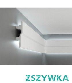 Nowoczesna gładka listwa przysufitowa oświetleniowa LED MDB150 firmy Mardom Decor z kolekcji Prestige. Sztukateria zbliżona kształtem do modelu MDB115 Mardom. Profil nowoczesny wykonany z dbałością o detale. MDB150 to najnowszy trend wzorniczy. Designerska listwa oświetleniowa przysufitowa o oryginalnym profilu, która pasuje do wnętrz nowoczesnych, współczesnych i awangardowych.