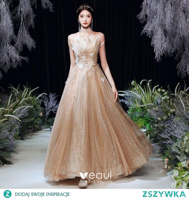 Uroczy Złote Taniec Sukienki Na Bal 2020