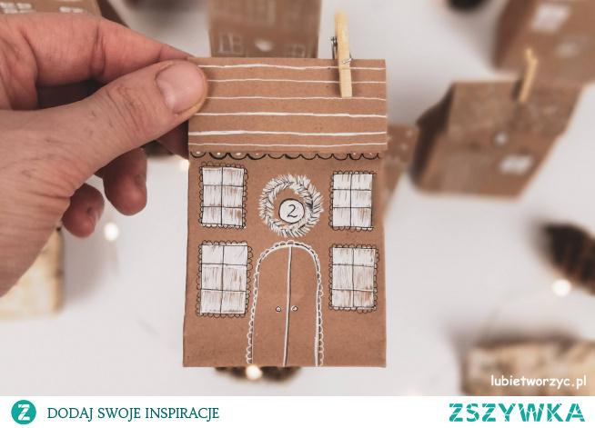 Tutorial ukazujący sposób wykonania uroczego kalendarza adwentowego z motywem domków :)