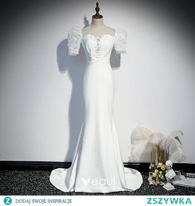 Vintage Białe Sukienki Wieczorowe 2020