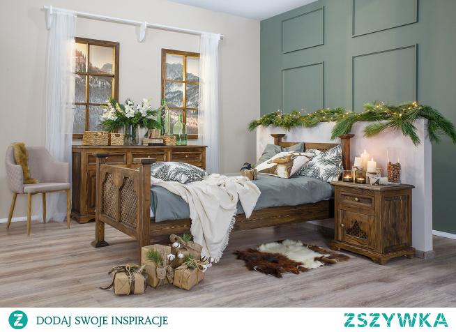 meble woskowane do sypialni, dekoracje świąteczne, sypialnia z duszą meble-woskowane.com.pl