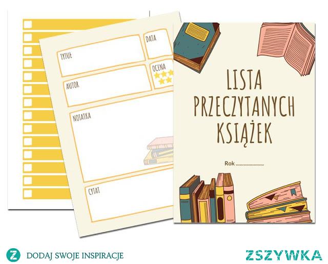 Spis przeczytanych książek do druku (lista czytelnicza)