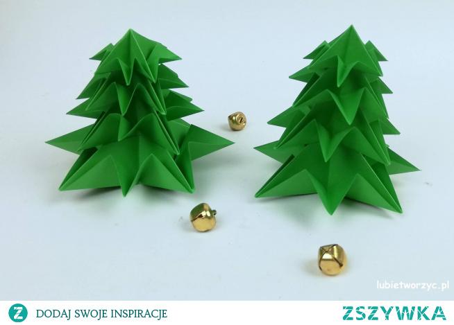 Tutorial ukazujacy sposób powstawania choinki metodą origami ;)