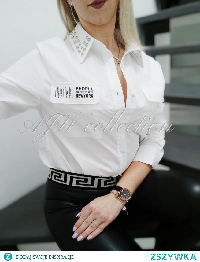 Biała koszula świetna do legginsów Zapraszam link w komentarzu