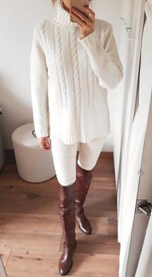Sweter 40% wełna po szczegó...