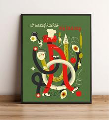 plakat do kuchni  autorski plakat hanibu