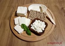 Biały ser zdrowy posiłek na...