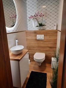 #łazienka #bielidrewno