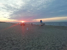 Zachód słońca i Bałtyk