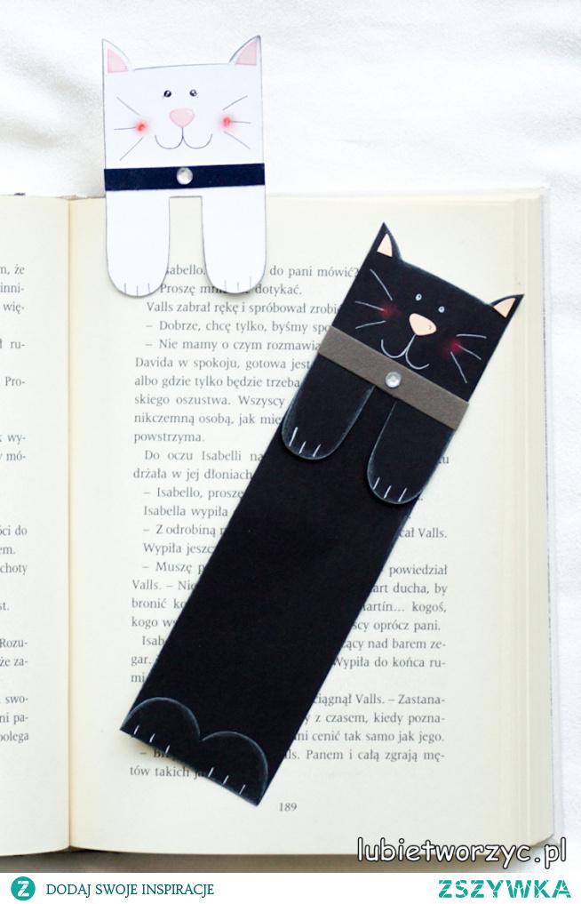 Tutorial ukazujący sposób wykonania uroczej zakładki do książki z motywem kota ;)