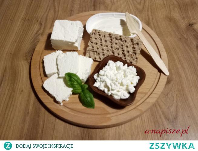 Biały ser zdrowy posiłek na diecie odchudzającej...