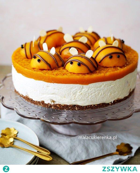Pyszne ciasto PSZCZÓŁKA bez pieczenia. Przepis po kliknięciu w zdjęcie.