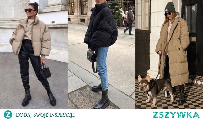 Zimowe stylizacje z kurtką oversize