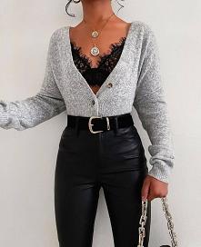 stylizacja że sweterkiem #m...