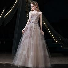 Uroczy Fioletowe Sukienki N...