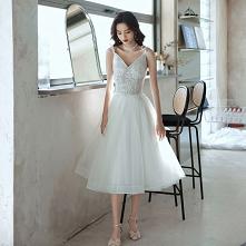 Moda Uroczy Białe Homecomin...