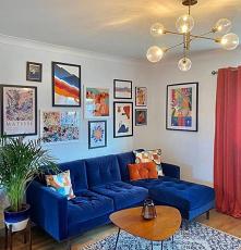 #salon#niebieska sofa#livin...