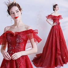 Błyszczące Moda Czerwone Su...