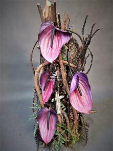 Rustykalna kompozycja kwiat...