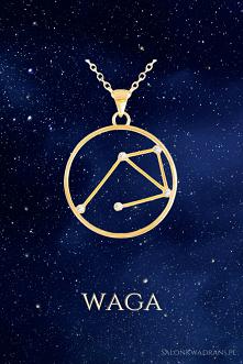 Srebrny naszyjnik z konstelacja gwiazd - Waga