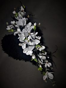 Eleganckie serce z białych ...
