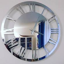 Zegar ścienny wykonany z lustra akrylowego. Dostępny w sklepie 4fundesign.com