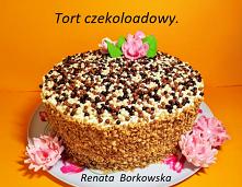 Tort czekoladowo- orzechowo...