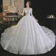 Luksusowe Białe Suknie Ślub...