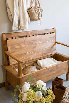 Drewniana ławka do przedpok...