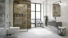 Łazienka w industrialnym stylu - Vijo Moretti Rust