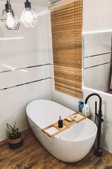 Żaluzja bambusowa w łazienc...