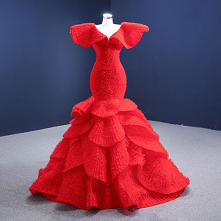 Wysokiej Klasy Moda Czerwon...