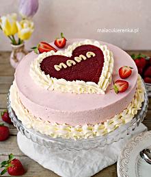 Pyszny tort truskawkowy dla...