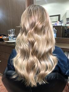 Beżowo opalizujący blond