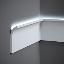 Listwa ścienna Led QS011 Mardom Decor minimalistyczna forma listwy dekoracyjnej ściennej z opcją oświetlenia led o zaoblonym kształcie. Listwy ścienne Led producenta Mardom Deco...