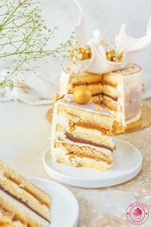 Tort z kajmakiem i czekolad...