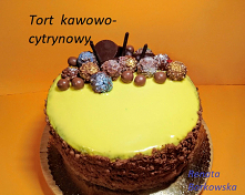 Tort  kawowo-cytrynowy