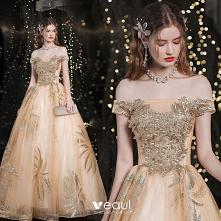 Uroczy Złote Sukienki Na Ba...
