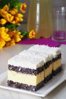 Ciasto makowo - kokosowe. C...