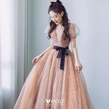 Moda Szampan Sukienki Na Ba...