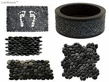Czarne otoczaki Lux4home™. ...