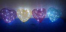 Urocze serce z lampkami w środku:) Może ktoś zainteresowany,chętnie wykonam:)